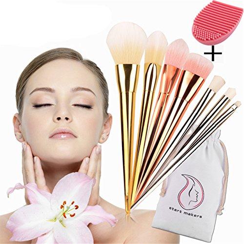 start-makers-makeup-brushes-professional-8-pcs-kabuki-make-up-brush-set-with-makeup-brush-cleaner-in