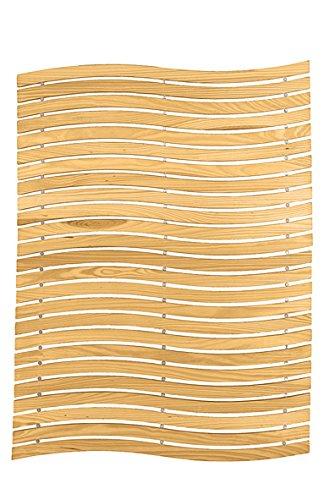 Kleine Wolke 5052202646 Holzmatte Wave, 60 x 80 cm, natur