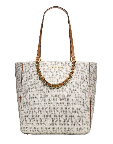 Michael Michael Kors Harper Large North/South Tote Bag, Vanilla