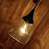 Patron Tequila Glass Hanging Pendant Lamp made from an upcycled tequila bottle ^#H4345 344Y584H364285