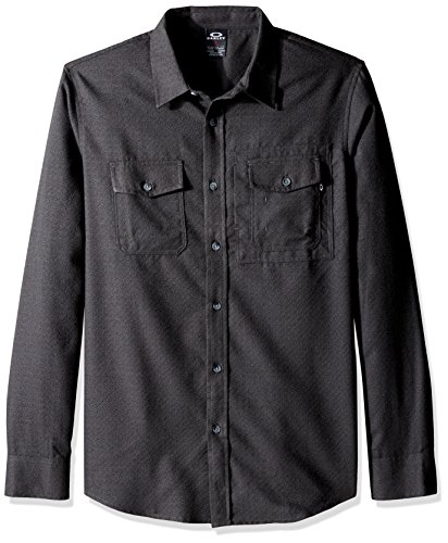 Camicia A Maniche Lunghe Oakley Adobe Jet Nero Heather (Xl , Nero)