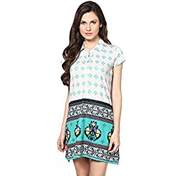 Fritzberg Printed Aqua Women Top