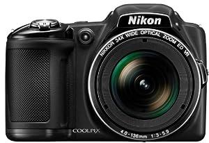 """Nikon CoolpixL830 Appareil photo numérique compact 16,8 Mpix Ecran 3"""" Zoom optique 34x Noir"""