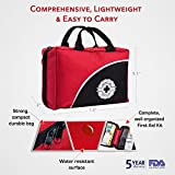 First Aid Kit 115 Piece for Emergency and Survival | Car, Home, Travel, Office or Sports | Compact Bag fully stocked with High Quality Medical Supplies