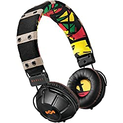 House of Marley EM-JH000-RA Rebel On-Ear Headphone (Rasta)