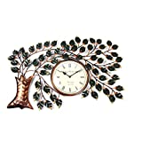 Shivay Arts Beautiful Handcrafted Metal Hand Painted Tree Wall Clock / Wall Hanging