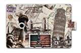 2014 Hot Statue of Liberty Ultra 360 Degree Rotating PU Leather Case Cover Stand Fold Slim Smart Magnetic Leather Case Cover For Apple iPad Mini & ipad Mini 2