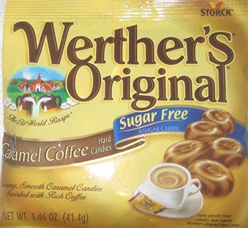 Werther's Original Caramel Coffee Sugar Free Hard Candies, 1.46 oz (Pack of 6)