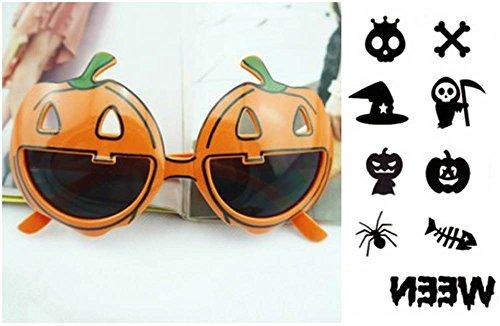 ハロウィン かぼちゃ メガネ 眼鏡 2 個 Halloween タトゥー セット ハロウィン クリスマス パーティー 仮装 変装 小道具