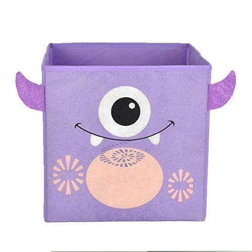 Nuby Monster Folding Storage Bin, Purple - 1