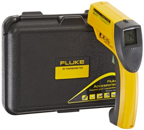 Fluke 63 Handheld Infrared Thermometer, 9V Alkaline Battery, -25 to +999 Degree F Range (Air Conditioning Thermometer compare prices)