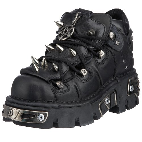 New Rock 110-S1, Scarpe casual, donna, Nero, 39.5 EU