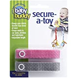 Baby Buddy Secure-A-Toy, Pink/Gray