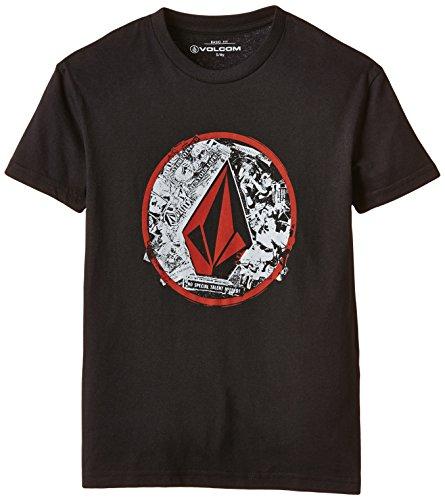 Volcom - T-Shirt Punk Circle Shortsleeve, T-Shirt bambini e ragazzi, Black, XL