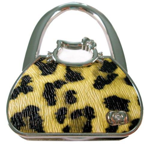 E-map purse hook purse hanger handbag table wedding folding holder - with gift velvet pouch - Leopard Print Bag Shade