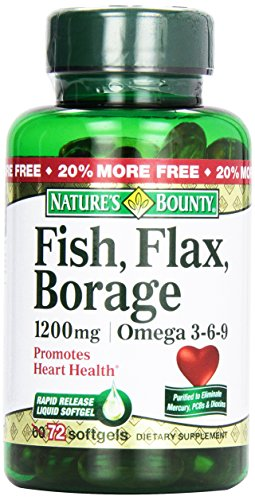 Nature's Bounty, Fish Flax Borage 1200 mg Omega 3-6-9 Softgels, 60 ct (Natures Bounty Omega 3 6 compare prices)