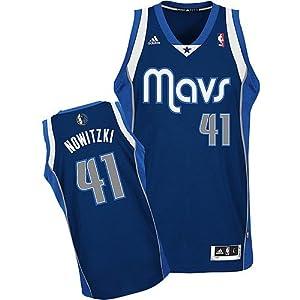 NBA Dallas Mavericks Dirk Nowitzki #41 Youth Swingman Atlernate Jersey, Navy by adidas