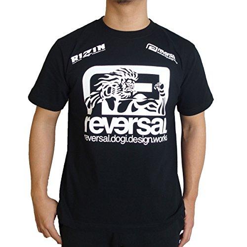 (リバーサル) REVERSAL 半袖Tシャツ RIZIN × reversal BIG MARK TEE [T451] L BLACK
