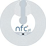 10 Circus 25mm Round NFC Tag/Sticker (white backing) - Quality SMARTRAC NXP NTAG203