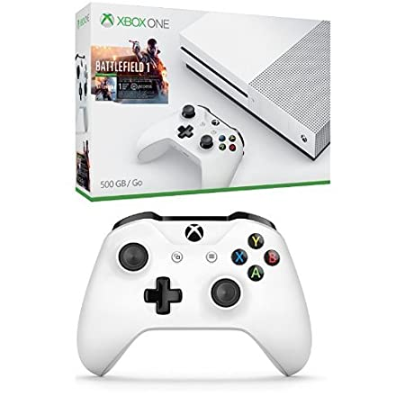 Xbox One S 500GB Console - Battlefield 1 + Extra Controller Bundle