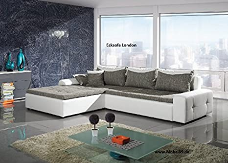 Ecksofa London mit Bettfunktion Eckcouch Sofa Couch mit Bettfunktion