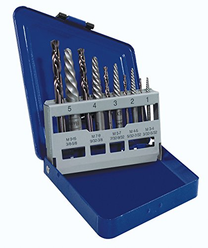IRWIN HANSON Spiral Extractor and Drill Bit Set, 10 Piece, 11119 (Screw Extractor Left Hand Drill compare prices)
