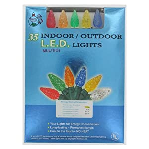 Santas forest 09500 35-Count Indoor/Outdoor LED Multi Colored Lights (Discontinued by Manufacturer)