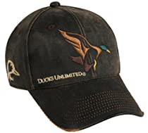 Ducks Unlimited Mallard on Weathered Cotton Cap, Dark Brown