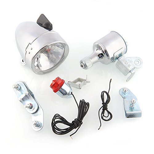 12W Friction Generator Headlight Tail Light Kit Fits Bicycles Motorized Bike For Electric Bike