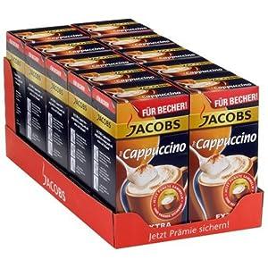 Jacobs Cappuccino Kaffee Becherportionen, 10er Pack (10 x 180 g)
