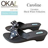 OKA b.(オカビー) Caroline Licorice/Black with White Polka Dots サイズS 約22.5~23.5cm C-22029PD C-22029PD