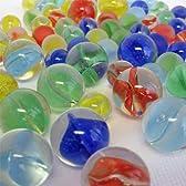 ガラスのビー玉55セット 3種類55個入り 日本メーカー Glass Marble