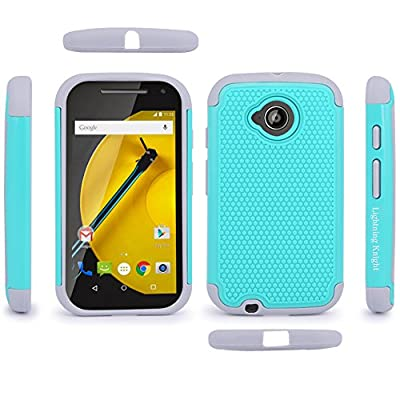 Moto E (2nd Gen) Case, LK [Shock-Absorption] Hybrid Dual Layer Armor Defender Protective Case Cover for Motorola Moto E (2nd Generation) from LK