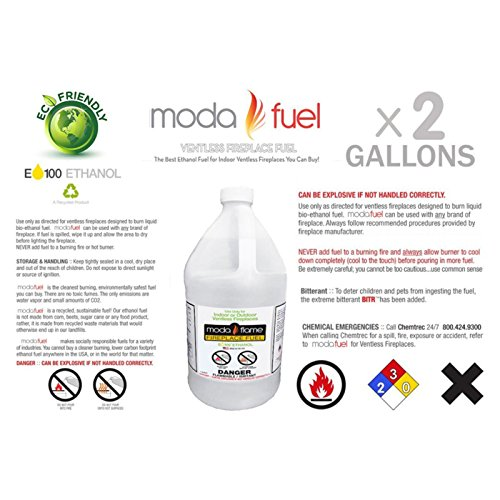Moda Flame Ventless Bio Ethanol Fireplace Fuel (3 Gallons)