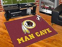 """Washington Redskins Man Cave All-Star Rug 34""""x45"""" - FAN-14385"""