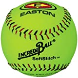 Easton A122609 12 Inch Neon Yellow Softstitch Incrediball Softball (Sold by the DZ.)