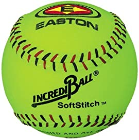 Easton A122609 12 Inch Neon Yellow Softstitch Incrediball Softball (Sold in Dozens)