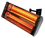 Wall Mounted Electric Halogen 2kw Patio Heater (Double Heating Lamp)