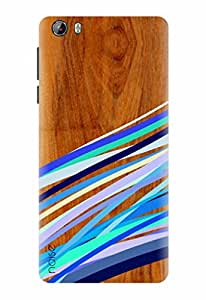 Noise Designer Printed Case / Cover for Intex Aqua Lions 3G / Wood / Wooden Multi Stripes Print Design