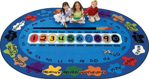 Bilingual Paint By Numero Carpet Oval 6 9 X 9 5 Best Deals Toys
