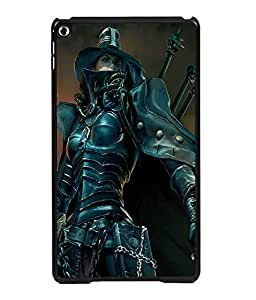 printtech Girly Warrior Sword Back Case Cover for Apple iPad 6