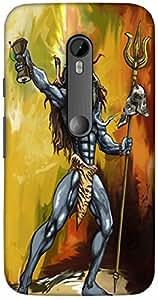 Snoogg Shiva Dumroo Designer Protective Back Case Cover For Motorola G 3Rd Ge...