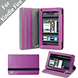 51eveNKWevL. SL160  Acase(TM) Kindle Fire Premium Micro Fiber Leather Case with built in Stand for Kindle Fire Full Color 7.5 Multi touch Display, Wifi (Purple)