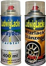 Spray Set para Audi Phantom Negro Tono: lz9y Diseño Año: 2004-2014perlado barniz Bote de Spray de * 2Ludwig Pintura spray en Juego-Una lata Spray 400ml de capa de base y una lata barniz brillante 400ml. Bote de Spray de ambos incluido 1K Aut