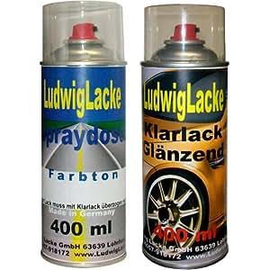 Sprayset für Audi Mingblau Farbton: LZ5L Baujahr: 1991 - 2005 Perleffekt Lack * 2 Spraydosen Ludwiglacke Lack Spray im Set - Eine Spraydose Basislack 400 ml und eine Dose Klarlack glänzend 400ml. Beide Spraydosen enthalten 1K Autolack.
