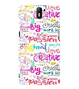 Fuson Premium Back Case Cover Passion With Multi Background Degined For One Plus One::One Plus1
