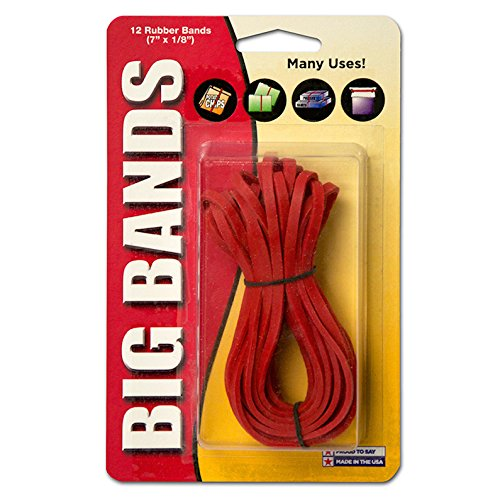 Alliance Big Bands Red Rubber Bands, 7 x 1/8 Inches, 12/Pack (00700) (Big Rubber Bands compare prices)