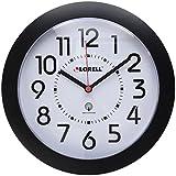 Lorell 60990 Wall Clock 9 in. Arabic Numerals White Dial/Black Frame