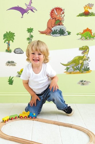 FunToSee Dinosaurs Boys Nursery and Bedroom Wall Decals, Dinosaur - 1