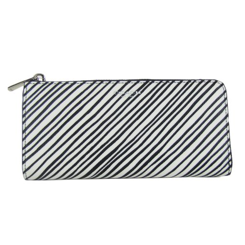 Coach   Coach Bleeker Slim Zip Zebra Print Wallet 51142 White Multicolor